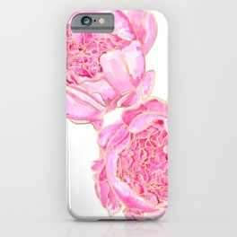 Pink and gold peonies, Sally iPhone Case