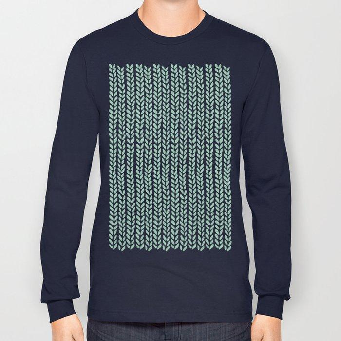 Knit Wave Mint Long Sleeve T-shirt
