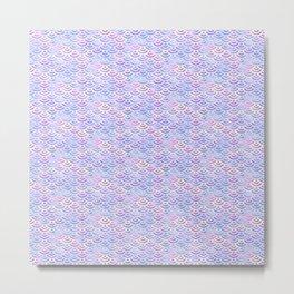 Purple Pastel Mermaid Pattern Metal Print