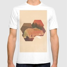POLYBEAR White MEDIUM Mens Fitted Tee