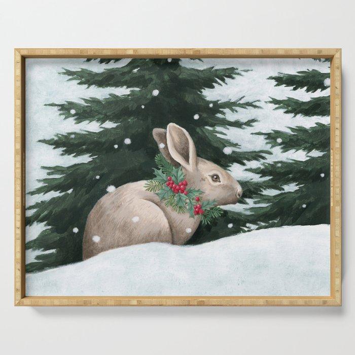 Winter Bunny Serving Tray