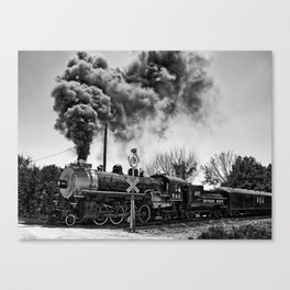 Southern Pacific Steam Locomotive Near Kearney & Liberty Missouri Canvas Print