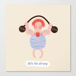 Alfie the strong Canvas Print