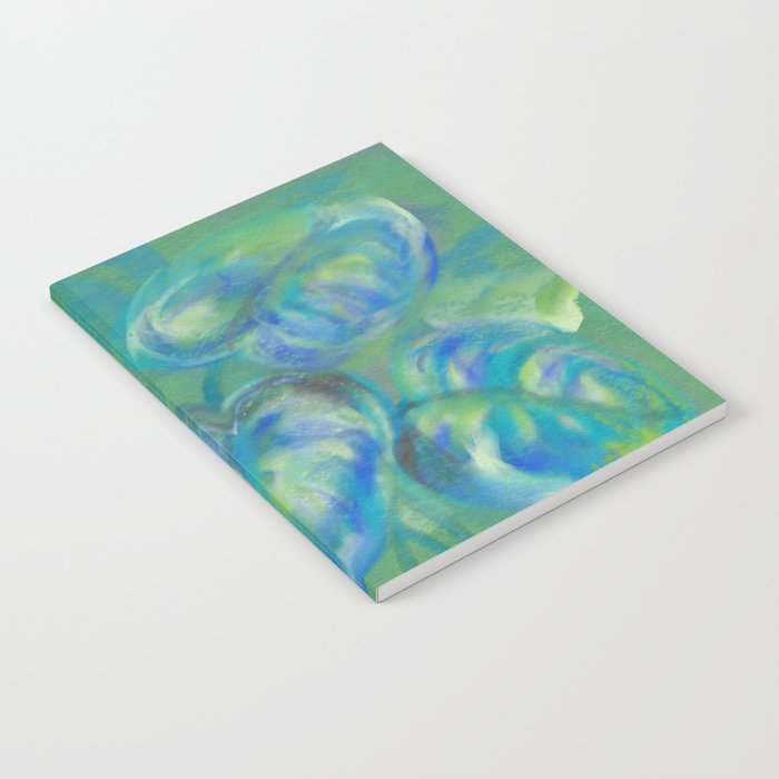 Green and White Spring Leaves Notebook