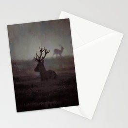 Silhouette Of A Highland Stag Stationery Cards