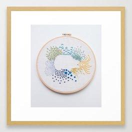 Bed Hedgehog Framed Art Print