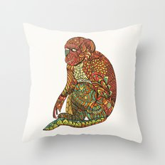 The Monkey Throw Pillow