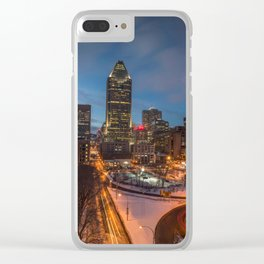 Montreal By Night Clear iPhone Case