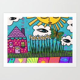 Sleepy House Art Print