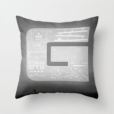 The Ghost of Gamers Past Throw Pillow