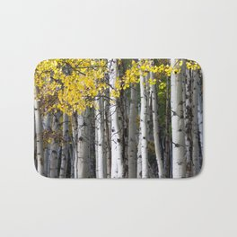 Yellow, Black, and White // Aspen Trees in Crested Butte Bath Mat