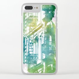 Travel - New York,fire escape Clear iPhone Case