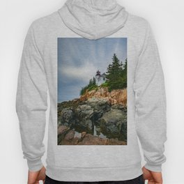 Bass Harbor Lighthouse Color Long Exposure Print Hoody