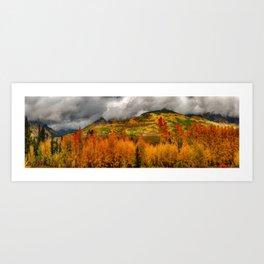 Autumn Scene at Crested Butte, Colorado Art Print