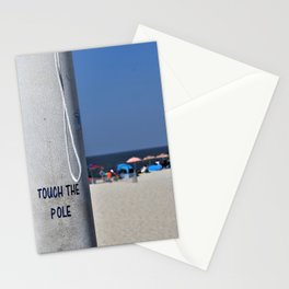 Touch  the Pole Stationery Cards