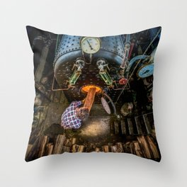 The Paddle Steamer Fireman Throw Pillow