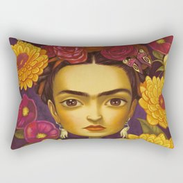 Frida Flowers Rectangular Pillow
