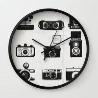camera Wall Clocks featuring Camera by Molnár Roland