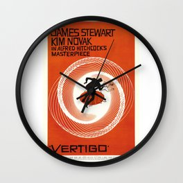 Vintage Movie Posters, Vertigo Wall Clock