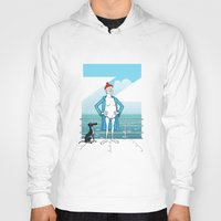 steve zissou Hoodies featuring THE LIFE AQUATIC WITH STEVE ZISSOU (Wes Anderson, 2004) by Mario Morales