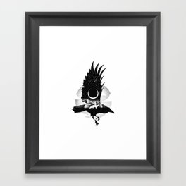 THE RAVEN AND THE FOX Framed Art Print