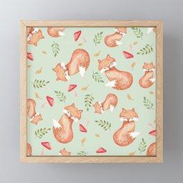 Foxes Framed Mini Art Print