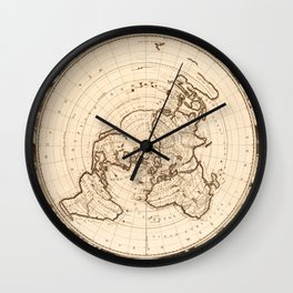 World Map circa 1713 (Planisphere terrestre) Wall Clock