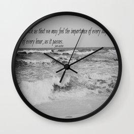 Jane Austen Every Day Wall Clock