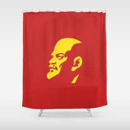 Vladimir Ilitch Oulianov Lenin Portrait Shower Curtain