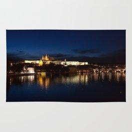 Prague Castle @night Rug