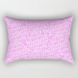 Microchip Pattern (Pink) Rectangular Pillow