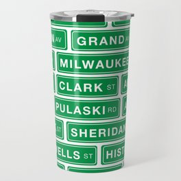 Famous Chicago Streets // Chicago Street Signs Travel Mug