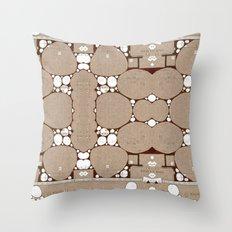 Rock Blueprint Throw Pillow