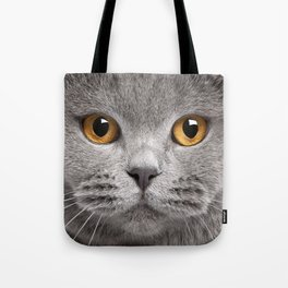 Cat in Grey Tote Bag