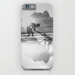 Friendship Mountain Black and White Surreal Nature iPhone Case