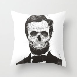 Dead Lincoln (b&w) Throw Pillow