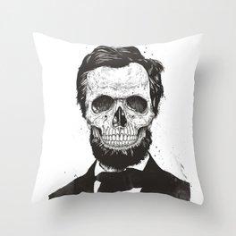 Dead Lincoln (b&w) Throw Pillow