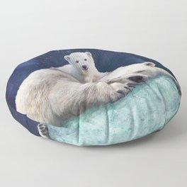 Polar Bears Floor Pillow
