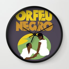 Orfeu Negro Wall Clock