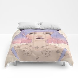 Cat Paw Tattoo Comforters