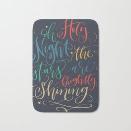 Holy holiday wishes Bath Mat