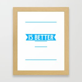 Life is Better With Goals Framed Art Print