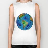 planet Biker Tanks featuring Planet by Edison Tezolin