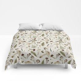 Mushroom pattern 1 white Comforters