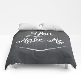 You Make Me Smile - Chalkboard Comforters