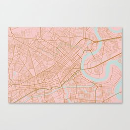 Ho Chi Minh map, Vietnam Canvas Print