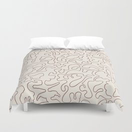 Puzzle Drawing #3 Chocolate Duvet Cover