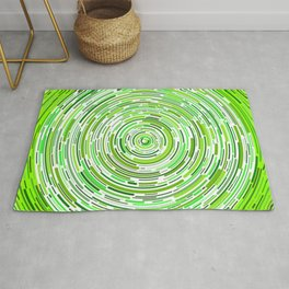 Ever-Decreasing Green Circles Rug