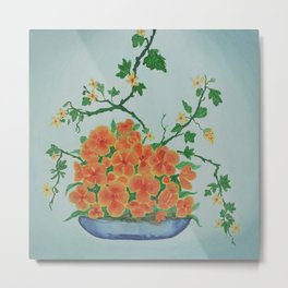 Ikebana Flowers IV Metal Print