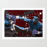 mike tyson Art Prints featuring Tyson  by SABIRO DESIGN